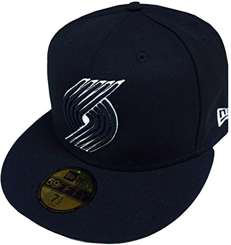 New Era Portland Trailblazers NBA Black White 59fifty 5950 Fitted Cap Limited Edition -