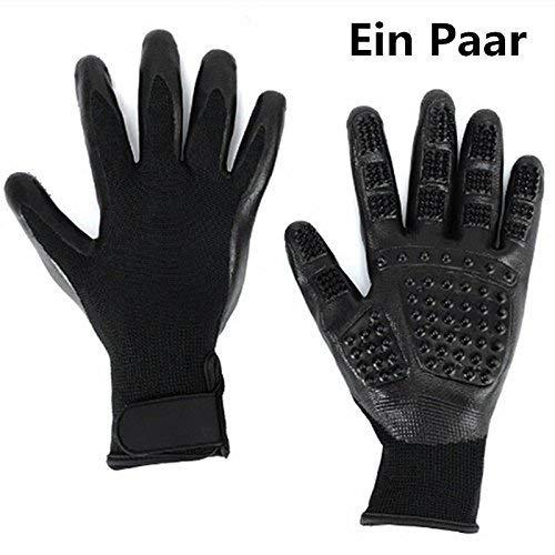 2PCS Pet Bürste Handschuh | VOYAGE Fellpflegehandschuh | Hochwertiger Fellpflege | schonender Tierhaarentferner & entspannende Massage-Bürste für ihren Hund oder Katze!