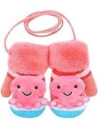 BBsmile Bebé Guantes Linda caricatura Espesar caliente Bebés bebés niñas niños De guantes cálidos de invierno