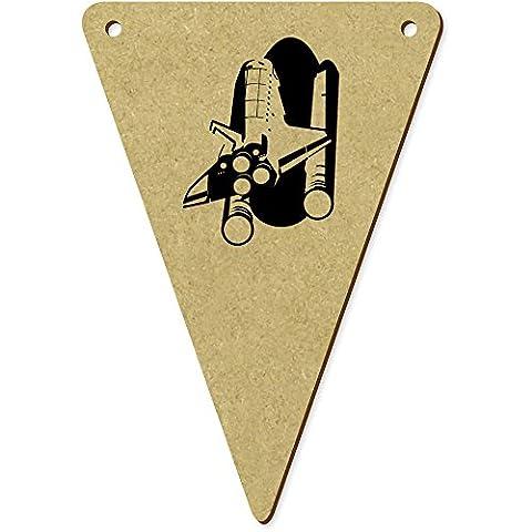 5 x 100mm 'Navette Spatiale' fanions triangles en bois