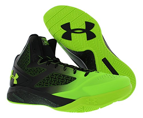 Under Armour Uomo ClutchFit Drive II Basketball Shoes Nero Verde