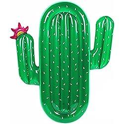 NS Inflatable Cactus Flotante Flotante Fila Colchón Inflable Flotante Plato Natación Anillo