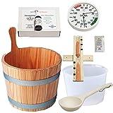 SudoreWell® Starter Set 3 pour sauna Kit d' accessoires pour sauna Set de 7 pièces