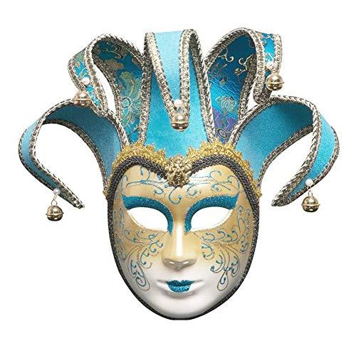 AMY-ZW Bemalte Venedig Maske - Halloween Maske - Cosplay Kostüm Maske - Party Rave Maske - Erwachsene Und Kinder (Color : A) (Edel Clowns Figuren Und Kostüm)