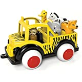 Viking Safari Jeep - Ages 1+ - 7.5 Inches - Includes 4 Figures - Dishwasher Safe - Soft Plastic