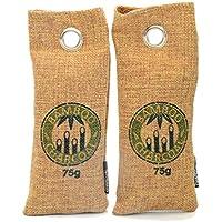 Bambù carbone attivo Deodorante purificatore d' aria | Lufttrockner | per scarpe, borsa sportiva, frigorifero, WC, auto, armadio... 2* 75G