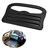 Chytaii Car Steering Wheel Table Desk Laptop Tray Dining Tray Drinking Holder PC Tablet Mount (Black)