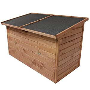 Auflagenbox 128x77x72cm | ca. 400L Fassungsvermögen | Gartenbox |Mehrzweckbox | Holztruhe