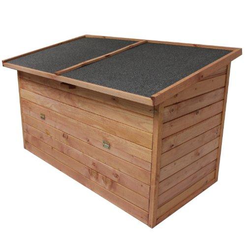 Auflagenbox-128x77x72cm-ca-400L-Fassungsvermgen-Gartenbox-Mehrzweckbox-Holztruhe