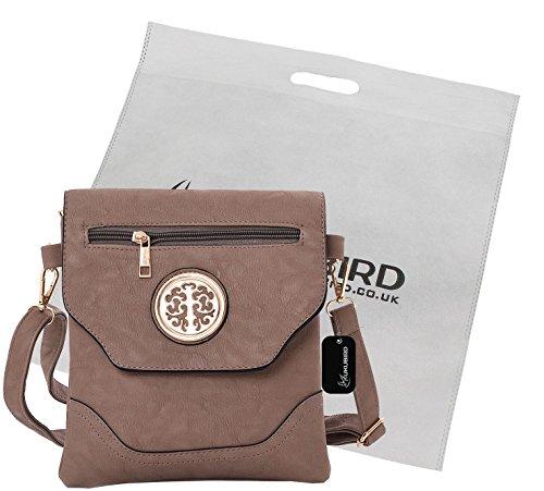 Kukubird Nicola Crossbody Bag borsa Casual tutti i giorni con sacchetto raccoglipolvere Kukubird Khaki