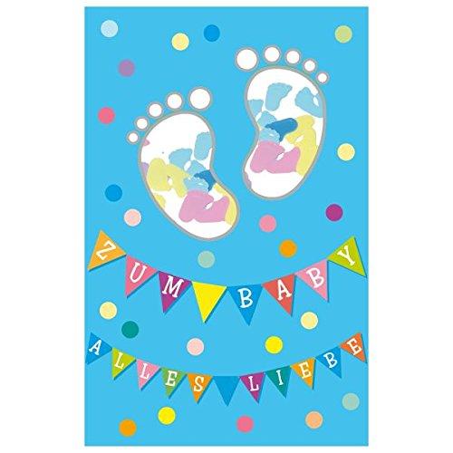 "Susy Card 40010366 Grußkarte zur Geburt/ Junge ""Füße"", Maße: 17 x 11 x 0, 4 cm"