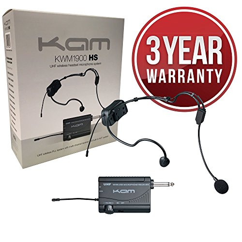 kam-kwm1900-hs-uhf-wireless-headset-microphone-system-ideal-for-aerobics-churches-schools