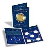 Münzkarte für 5 dt. 2-Euro-Gedenkmünzen 30 Jahre EU-Flagge