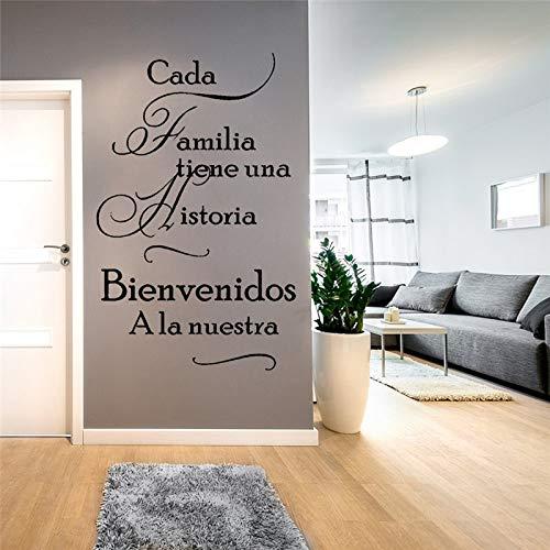 Cada Familia Tiene Una Historia WILLKOMMEN Unsere Wandaufkleber Spanisch Home Quotes Poster Wandtattoos Aufkleber 42X66 cm - Nike Post