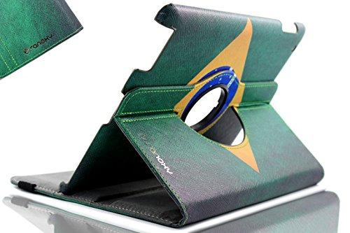 SANOXY 360-Grad-Drehständer PU-Leder-Kastenabdeckung mit Selbstschlaf und wachen Funktion für iPad Luft/iPad 5/5. Generation