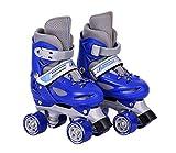 ZJQTT Pas de Peur Enfants Quad Skates Filles Skate Shoes Rollers À Patins À roulettes Réglables,Blue,XS