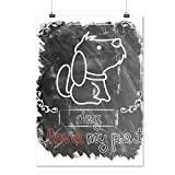 I Love My Pet Dog Animal Care Matte/Glossy Poster A3 (42cm x 30cm) | Wellcoda