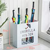Porta ombrelli, Quadrata Portaombrelli Metallo Moderna Design con vaschetta raccogligocce per Lungo Tempo Breve Ombrello per canne Bastoni da Passeggio Home Ufficio-D 20 * 50 * 50cm