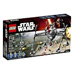 Arm the rapid stud shooter, raise the body high into the air and get ready to stride into battle against the galactic republic. The homing spider droid is so tough, it can even walk on the bottom of the sea. Includes 2 iconic mini figures an elite co...