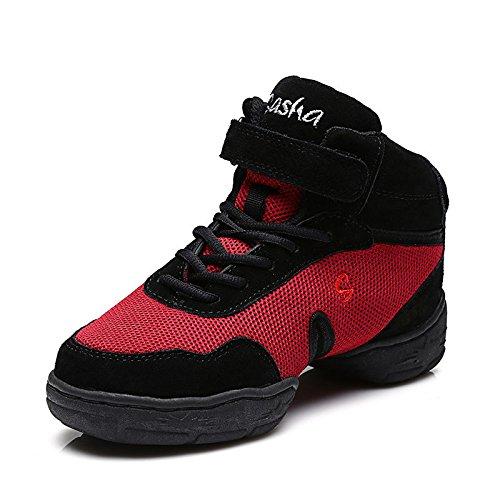 Zq @ Qx Zapatillas De Baile Cuadrado De Señoras Transpirables Cómodas Modernas Zapatos Red Net