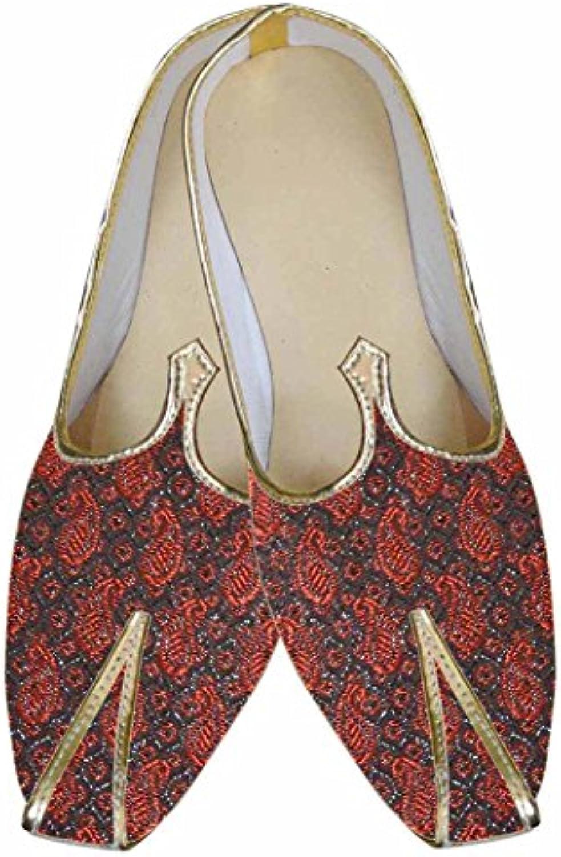 INMONARCH Hombres Atractivo Rojo Zapatos de Boda MJ0038
