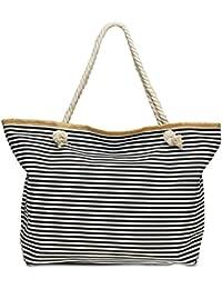 9bc4ca3b87723 Damentaschen CASPAR TS1061 Damen XXL Stroh Sommer Strandtasche Shopper Groß  Bunt Ananas Print
