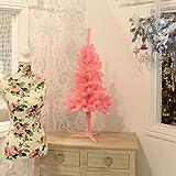 Festive Lights künstlicher Weihnachtsbaum – 90cm hoch – in Blau oder Rosa, (Rosa)