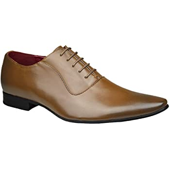 187fffd84f1a ClassyDude Mens Smart Fashion Black Brown   Grey Leather Formal Lace up  Brouge Shoes UK Size 6 7 8 9 10 11…