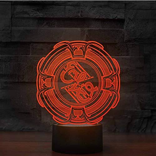 7 farben ändern 3d musik tischlampe led visuelle büro atmosphäre decor band leuchte kinder schlafzimmer nacht schlaf nachtlicht