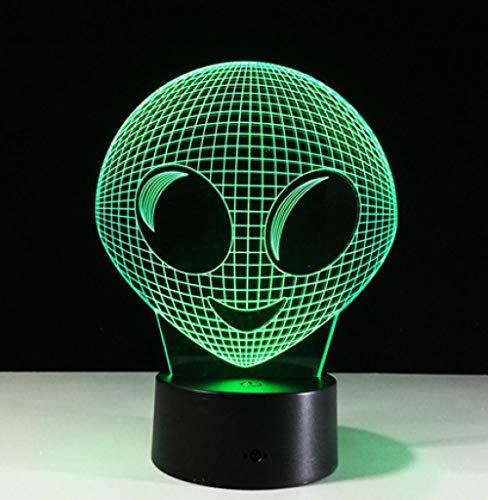 chöne 3d film alien led tischlampe nachtlicht bunte illusion atmosphäre lichter dekor home party geschenk licht 75 ()
