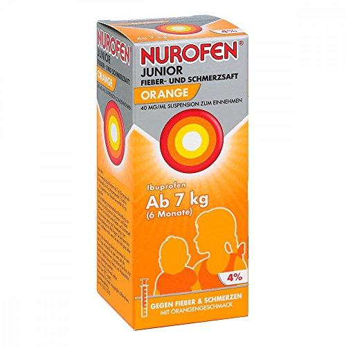 Nurofen Junior Orange 4{8fb8e501f90a357ccbc8be562aed1708c8aec63a901cadc01312970cb2050619} Saft, 100 ml