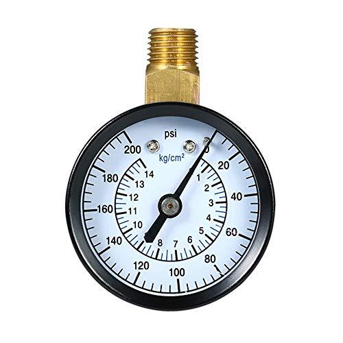 XLTWKK 0~200Psi 0-14Kg / Cm2 Medidor de presión mecánico de Doble Escala Filtro de Piscina Medidor...