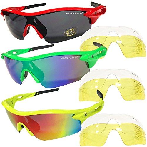 VeloChampion Warp Gafas de Sol  (con 3 lentes  inc ahumado 168f6a66b7f7