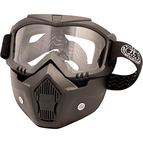 PI Wear Invase klar☀ Brillen-Maske, Goggle-Mask, Paintball Maske