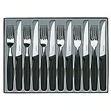 Victorinox cuchillo para bistec-Set, Wellenschliff, negro, 12 partes 5.1233.12