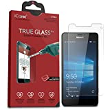 Microsoft Lumia 950 XL Screen Protector, iCarez [Tempered Glass] Highest Quality Premium Easy Install - Retail Packaging 2015