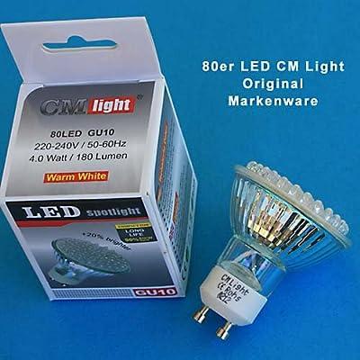 80 LED Leuchtmittel GU10 Sockel warm-weiss von CM Light bei Lampenhans.de