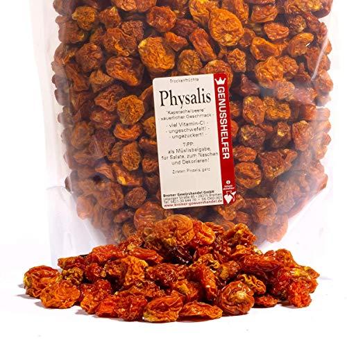 Bremer Gewürzhandel - Physalis 600 Gramm getrocknet - Vitaminbombe - Trockenfrucht - ohne Zuckerzusatz - ohne Geschmacksverstärker