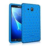 Fintie Samsung Galaxy Tab A 7.0 Hülle - [Bienenstock Serie] Leichte Rutschfeste Stoßfeste Silikon Schutzhülle Tasche Case Cover für Samsung GALAXY Tab A 7.0 SM-T280/SM-T285 (7 Zoll) Tablet-PC, Blau
