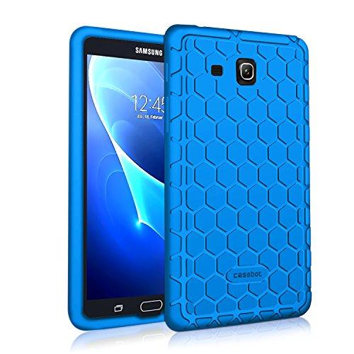 Fintie Silikon Hülle für Samsung Galaxy Tab A 7.0 SM-T280 / SM-T285 (7 Zoll) Tablet-PC - [Bienenstock Serie] Leichte Rutschfeste Stoßfeste Silikon Schutzhülle Tasche Case Cover, Blau (Samsung Tablet-cover Für 7)