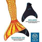 Fin Fun Mermaid Tail verstärkte Tipps, mit Monoflosse, Tropical Sunrise, Größe Kind 8