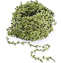Kokmn Vine Artificial Greenery Garland, 132 Pies Hojas verdes Cinta falsa Ivy Leaf Garland para