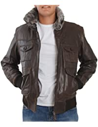 Eagle Square - Blouson - Aviator Cuir Marron - Marron