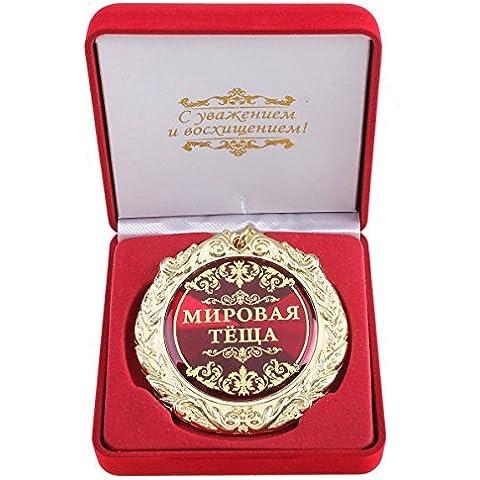 Medaglia in Scatola regalo La migliore Madre russa Anniversario Compleanno