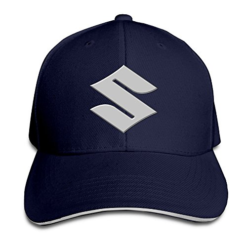 hittings-suzuki-motorcycle-logo-adjustable-snapback-peaked-cap-baseball-hats-navy