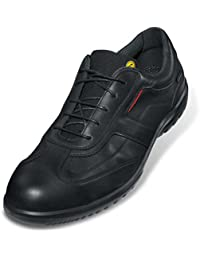 """Uvex Zapatos bajos de seguridad """"informal negocios"""" 9510 S1, Suela: PUR-Duo, negro/rojo, varios, Talla - 46"""