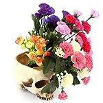 1 stück Schädeltopf Harz Schädel Kopf Design Blumentopf für Szenen Dekoration Süßigkeit Schüssel auch Halloween