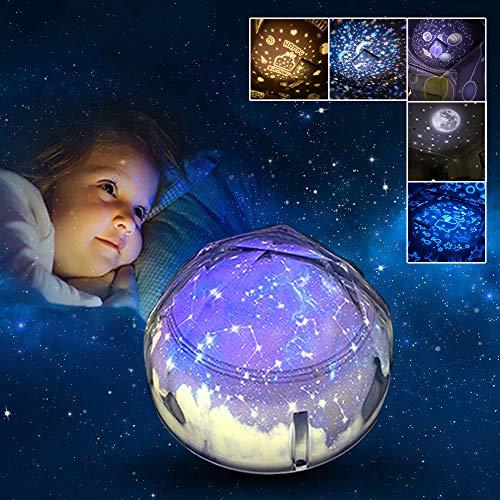 Mädchen Geschenke 3-5 Jahre, Joy-Jam Sternenhimmel Projektor Nachtlicht Kinderzimmer Baby Jungen Entspannung Babyzimmer Deko Konstellation Sternenprojektor