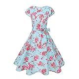Casual Floral Summer Dress Women Cap Sleeve 1950S Vintage Rockabilly Dress Elegant Evening Party...