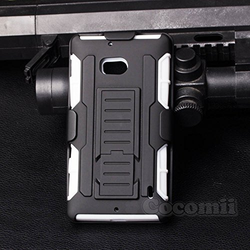 Nokia Lumia 930 / Icon 929 Coque, Cocomii Robot Armor NEW [Heavy Duty] Premium Belt Clip Holster Kickstand Shockproof Hard Bumper Shell [Military Defender] Full Body Dual Layer Rugged Cover Case Étui Housse Microsoft (White)